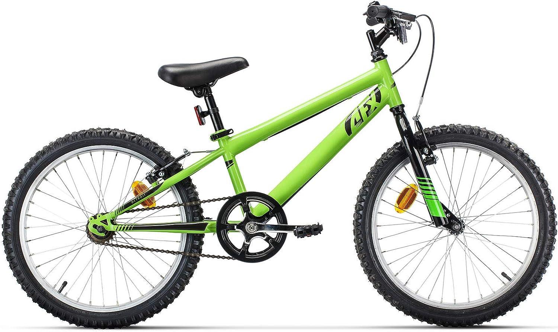 AFX Detroit Bicicleta Infantil, Niños, Verde, Largo Tubo sillín 254mm