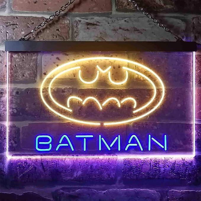 Queen Sense 14x10 Bat Man Neon Sign Light Beer Bar Pub Man Cave Real Glass Lamp DE82