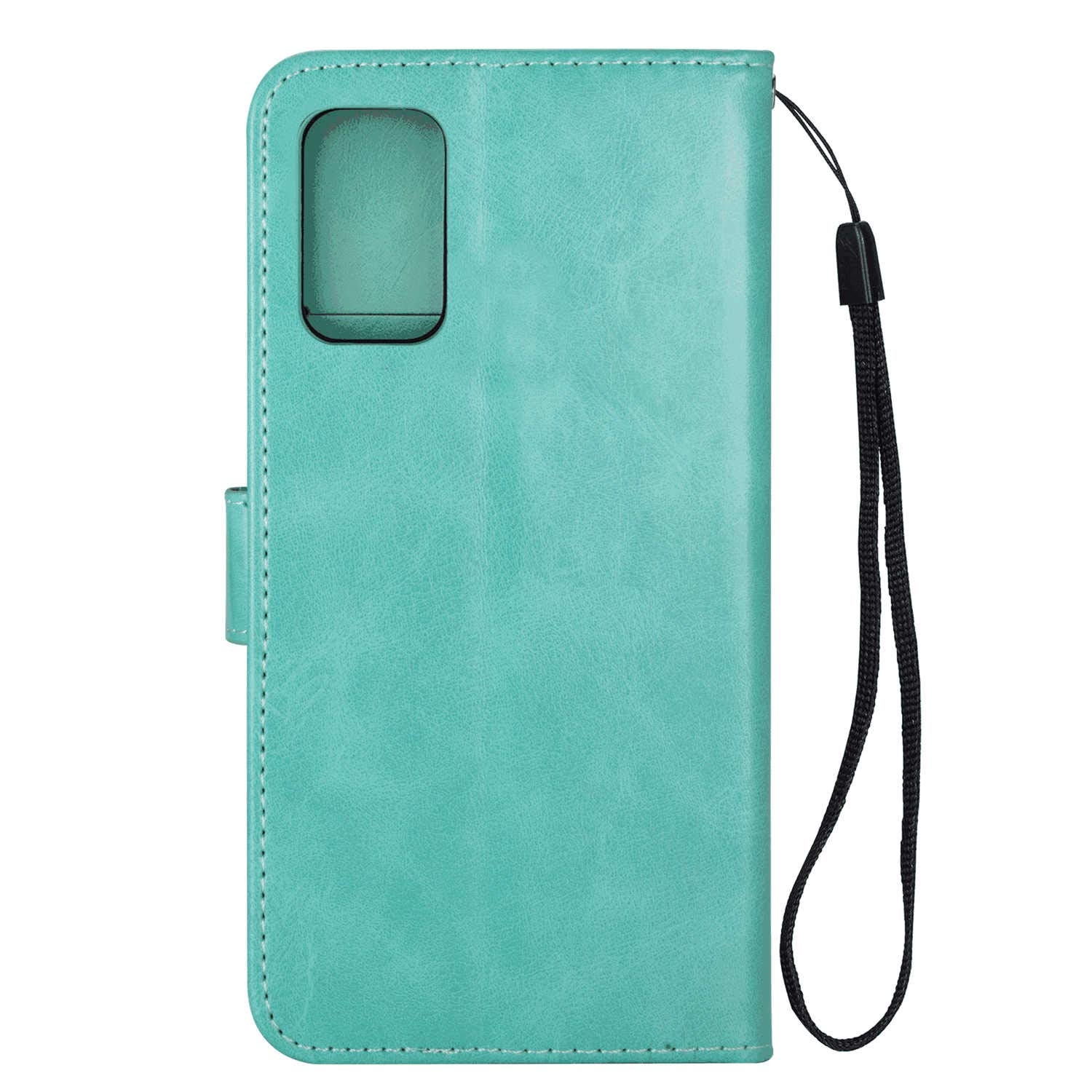 WaiterQA Samsung Galaxy S20 Plus S20 Flip Case Leather Cover Cell Phone Cover Extra-Shockproof Business Kickstand Card Holders Horse Grain Card Slot Pure Color Green