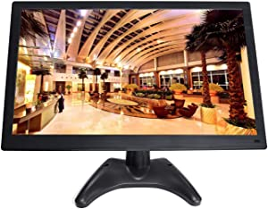 EVERSECU 13.3 inch HD 1920x1080 IPS LCD HDMI Monitor Screen Input Audio Video Display with BNC Cable for PC Computer Camera DVD Security CCTV DVR Home Office Surveillance