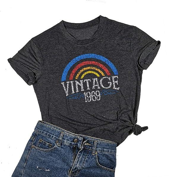 Amazon.com: Vintage 1969 Piezas Originales Camiseta de las ...