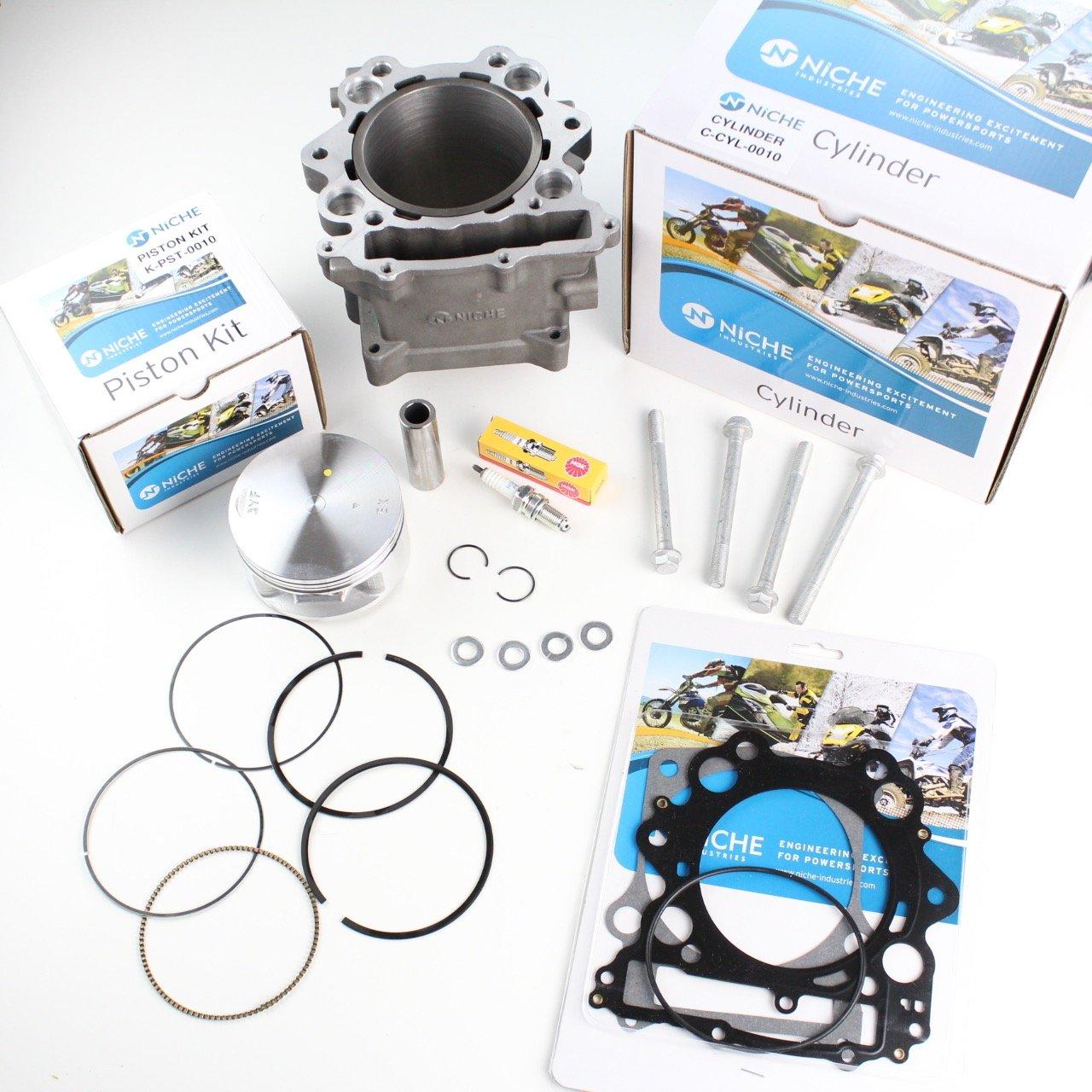 NICHE 686cc 102mm Big Bore Cylinder Piston Gasket Kit for Yamaha Rhino 660 2004-2007 Niche Industries