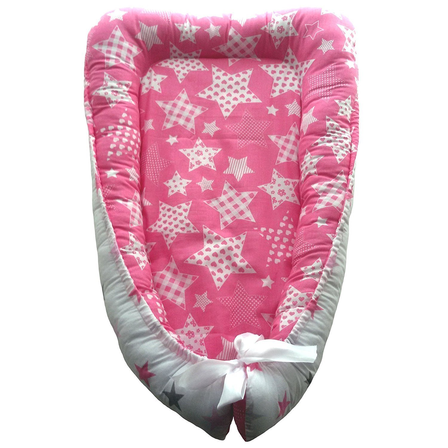 Double-Sided Baby nest, Baby Nest Pink, Newborn Sleep Bed, Cocoon-Cradle, Newborn Baby Nest, Pink Baby Nest bobka