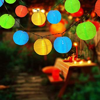 Spardar - Guirnalda de luces solares para exteriores (19.7 pies, 30 ledes, resistente al agua, para jardín, patio, jardín: Amazon.es: Iluminación