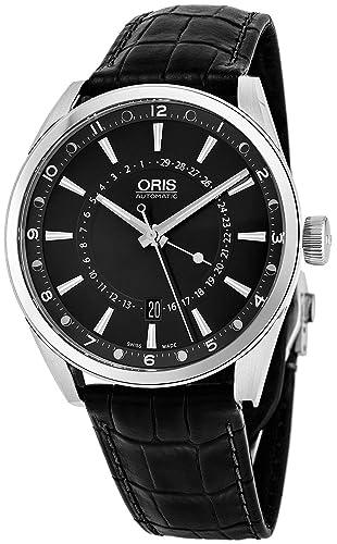 Oris 01 761 7691 4054 - 07 5 21 81 FC Hombres del reloj Negro Artix Pointer Moon Date: Oris: Amazon.es: Relojes