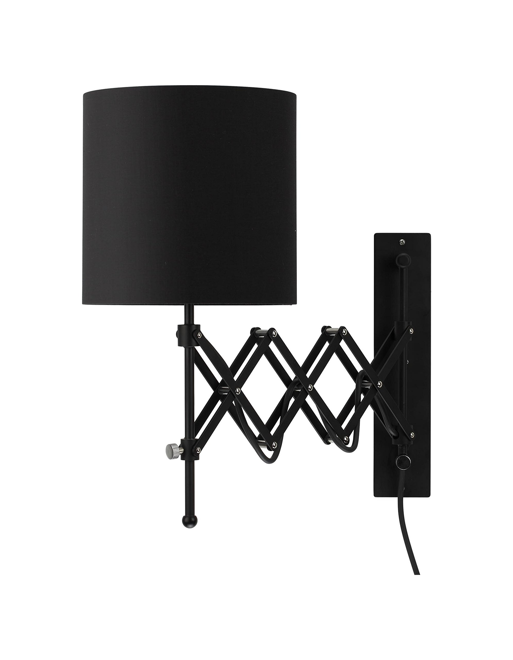 Modernluci Wall Lamp Plug In Wall Lights Bedroom Sconce E27 Black Energy Class A Buy Online In Cook Islands At Cook Desertcart Com Productid 103111666