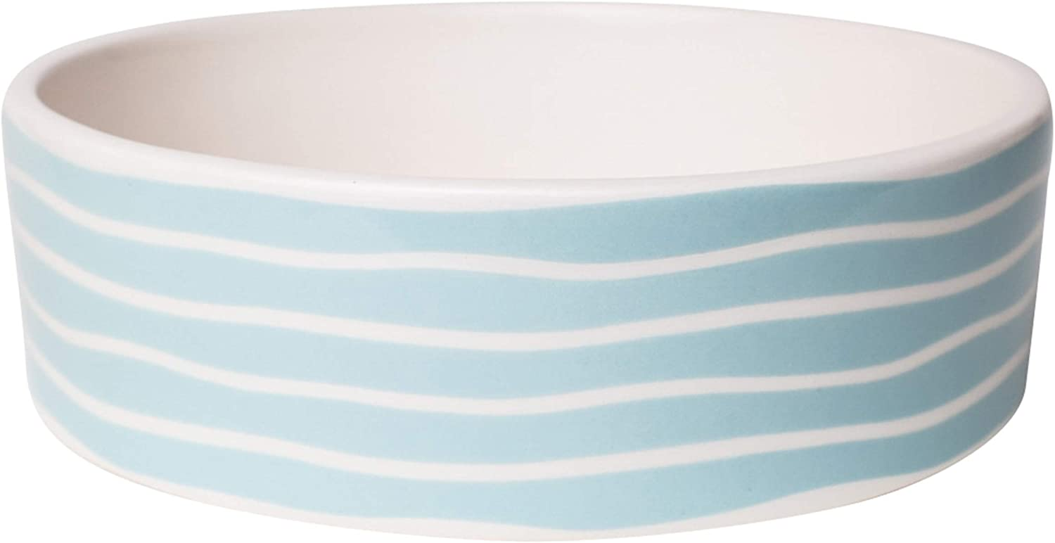 Park Life Designs Sagres Pattern Pet Bowls, Heavyweight Ceramic Dish Stays Put, Chew-Proof, Microwave and Dishwasher Safe