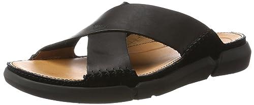 6b4975bb5659 Clarks Men s Trisand Cross Black Flip Flops Thong Sandals - 10 UK India  (44.5