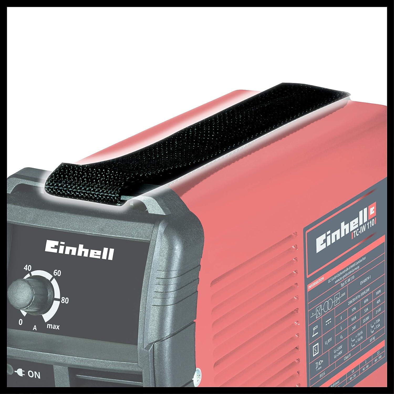 Einhell 1544160 Soldador Inverter TC-IW 110 Corriente 10-100 a, Rojo: Amazon.es: Industria, empresas y ciencia