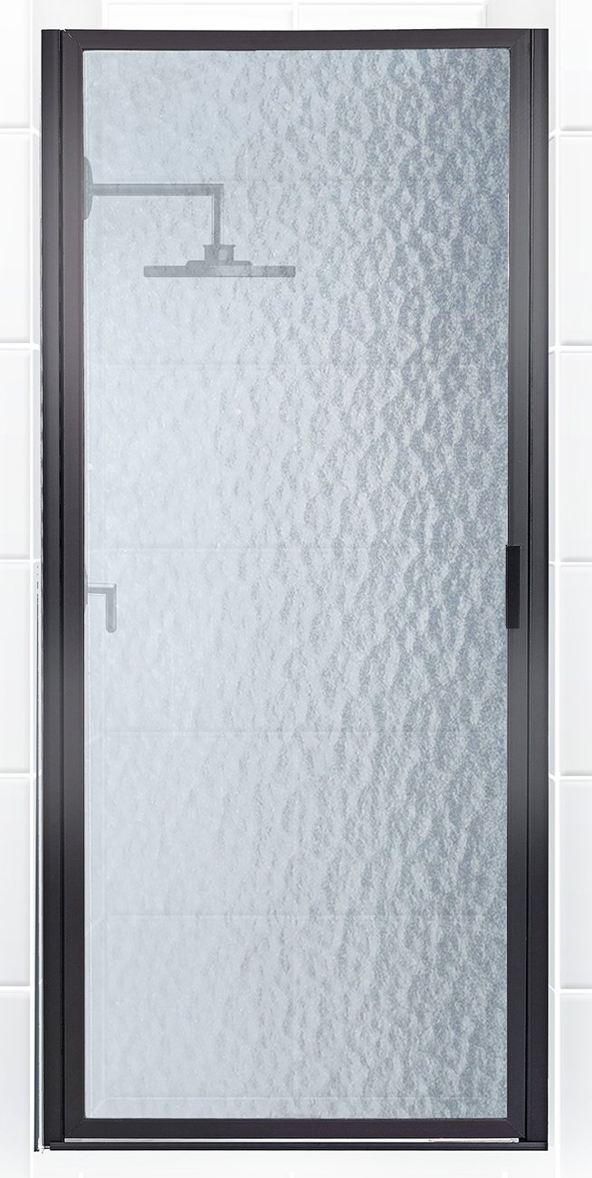 Coastal Shower Doors P26.70O-A Paragon Series Framed Continuous Hinged Shower Door with Aquatex Glass, 26 x 69 , Black Bronze