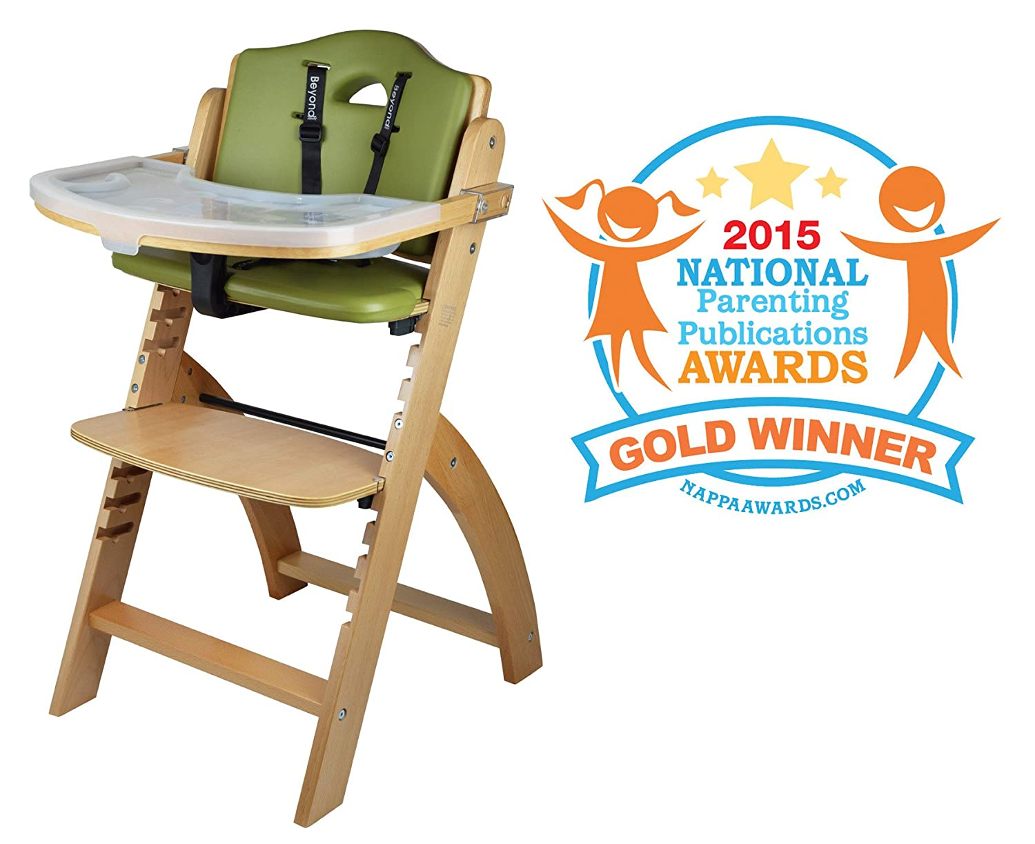 Abiie Beyond Wooden High Chair with Adjustable Baby Highchair