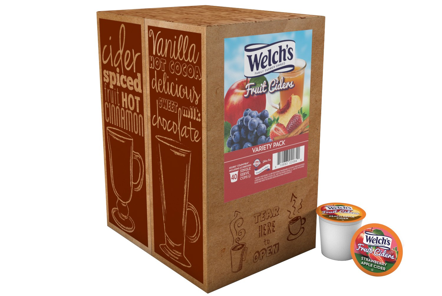 CDM product Welch's Fruit Ciders Variety Pack for Keurig K-Cup Brewers, 40 Count big image