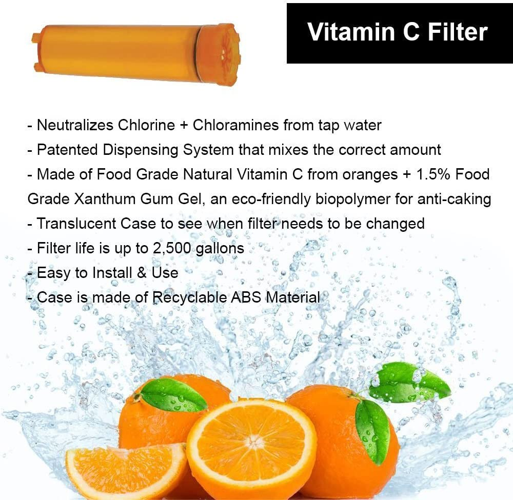 Sonaki Inline Shower Head Water Filter Vitamin C filter