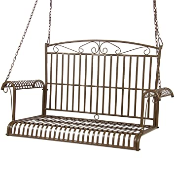 Terrific Best Choice Products Iron Patio Hanging Porch Swing Chair Alphanode Cool Chair Designs And Ideas Alphanodeonline