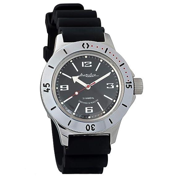 pretty nice 24d77 dd4fc ボストーク ミリタリー腕時計 アンフィビア 120509 / 2416b ロシア製 自動巻き式 ダイバー用 200m防水 ブラック