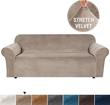 H.VERSAILTEX Real Velvet Plush Sofa Cover, Couch Covers for 3 Cushion Couch, Soft Rich Velvet Couch Covers for Sofa, Couch Cover, Sofa Covers for ...