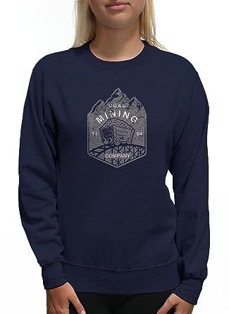 Amazon.com  Young Motto Women s Coal Mining CO. Sweatshirt  Clothing ab3f700fe5