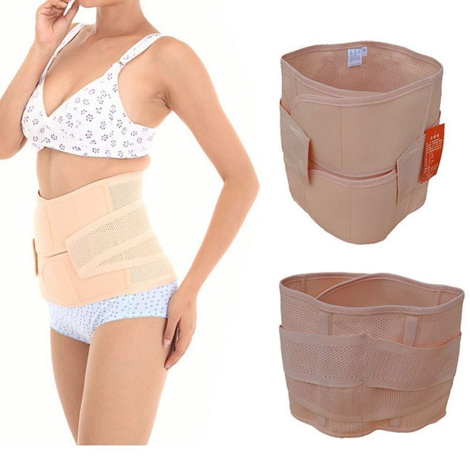 Healthcom Waist Slimming Belt Shaper Wrapper Band Abdomen Abdominal Binder Women Postnatal Pregnancy Belt-Support Postpartum Recoery Support Girdle Belt Belly(Size:L)