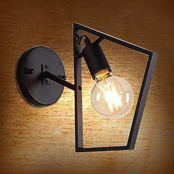 BOOTU lámpara LED y luces de pared Bar Retro pasillo escaleras loft apliques de pared de luz de Artes Industriales, negro: Amazon.es: Iluminación