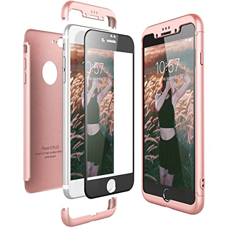 coque iphone 8 plus 3 en 1
