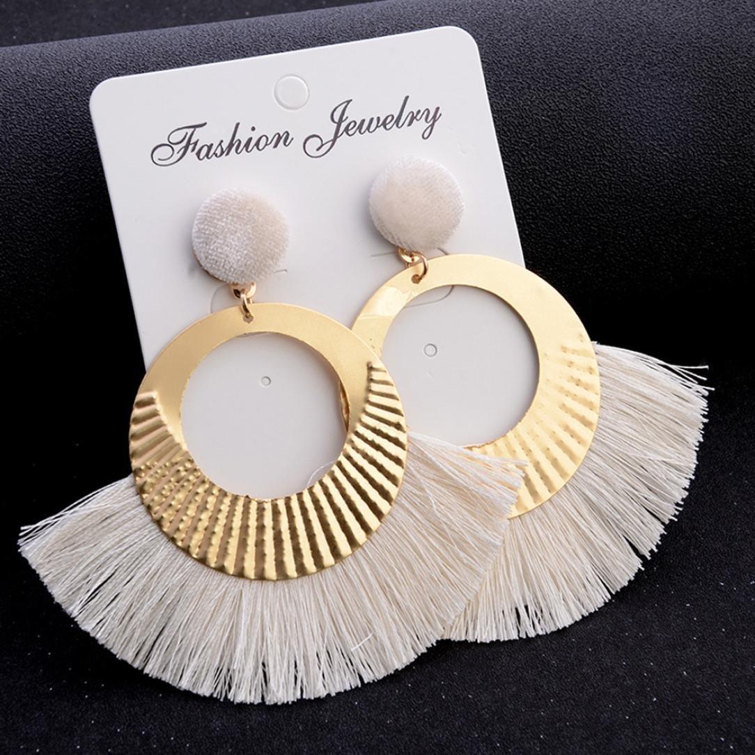 Boucles doreilles Boho Bijoux,Ajour/é style grand cercle cristal glands pendentif goujon boucles doreilles bijoux de mode