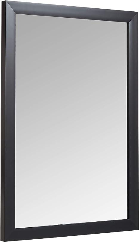 Amazon Basics Rectangular Wall Mirror 20 X 28 Standard Trim Black Home Kitchen