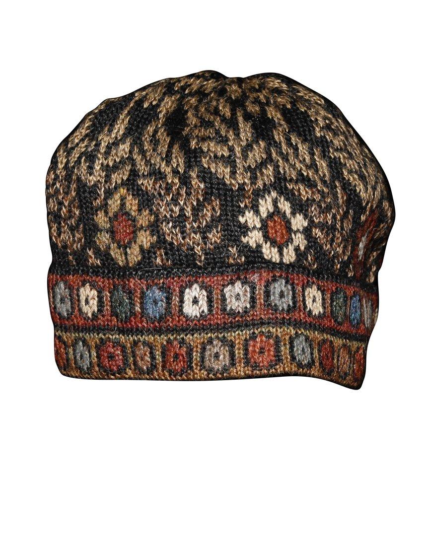 Invisible World Women's 100% Alpaca Wool Hat Knit Unisex Beanie Winter Tibet Md