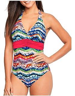 8db1905669b97b Figleaves Womens Fern Multi Underwired Halter Swimsuit Size 34G in ...
