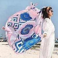 SUNBABY Women Bohemian Tassels Scarf Sunscreen Shawl Seaside Travel Beach Towel