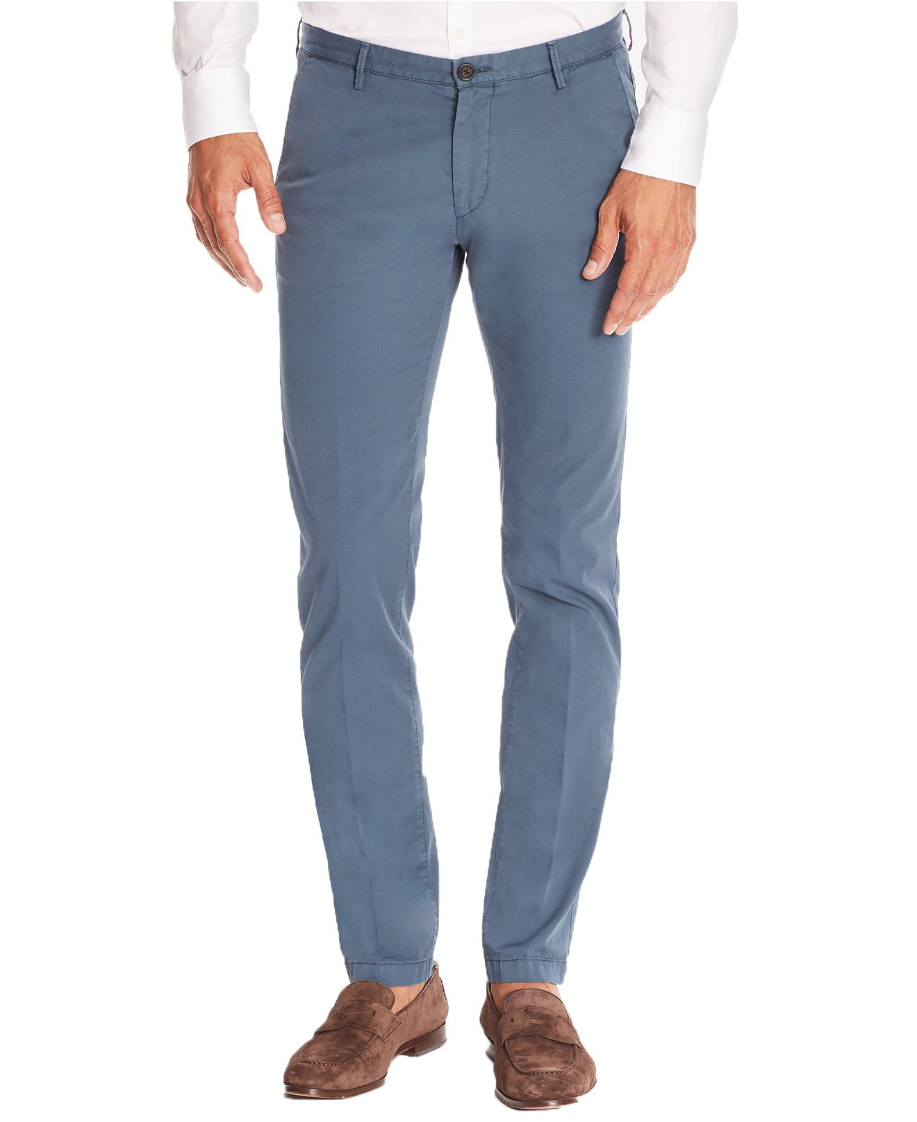 Boss Men's Slim-Fit Gabardine Stretch Pants (Blue, 48)