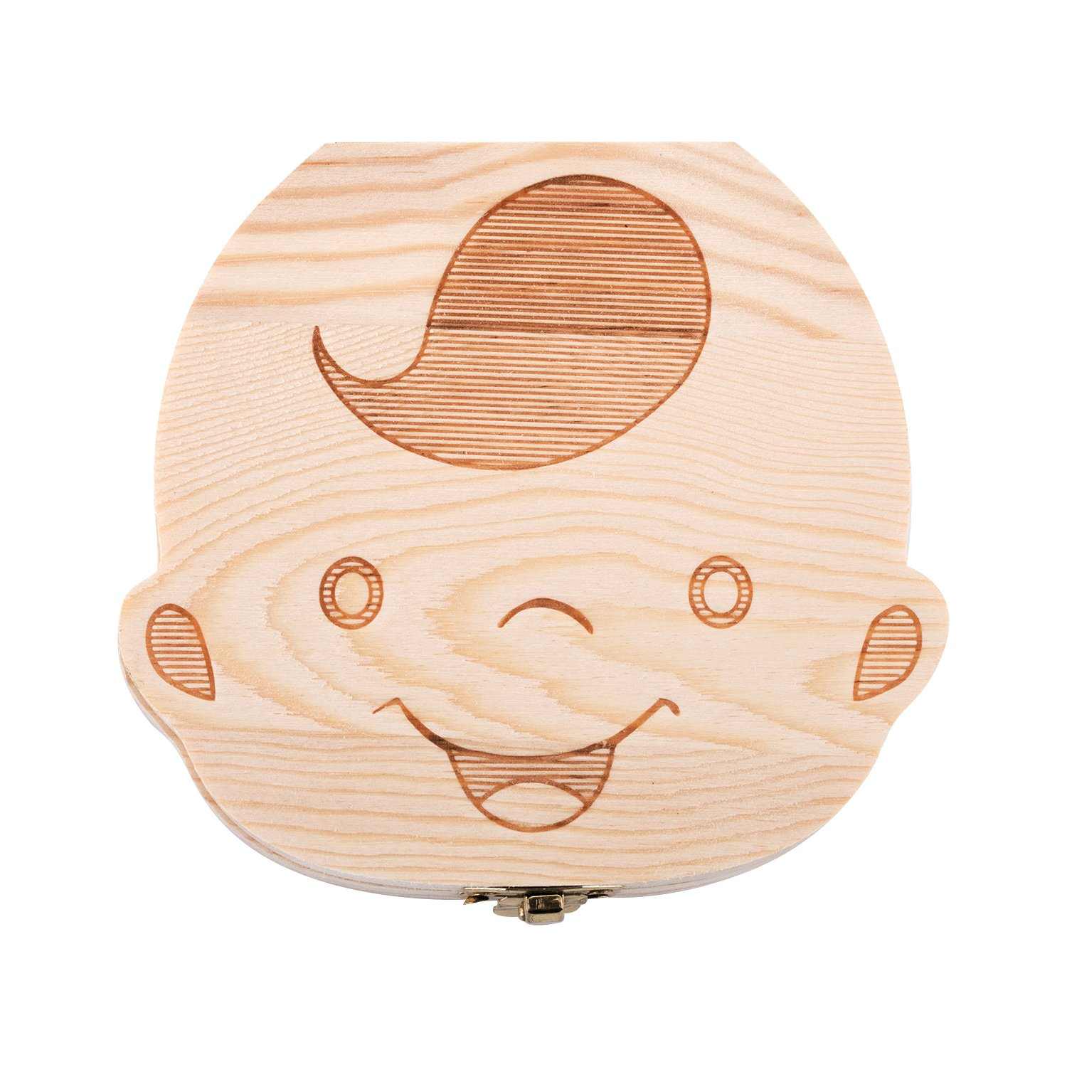 Tooth Box,Personality Baby Teeth Box Tooth Saver Design for Kids Deciduous Teeth Collection. CampTek