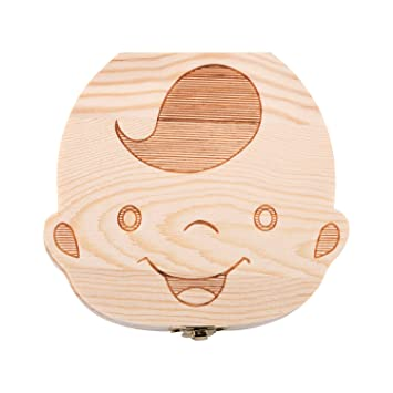 Cute Wooden Tooth Box for Storing Milk Tooth and Tooth Fairy Letters for First Wobble Tooth Amazy Milk Tooth Box with Tweezers and Tooth Fairy Letter