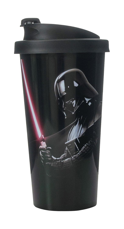 Star Wars 30400001 Darth Vader Thermobecher aus Kunststoff, schwarz L3040DV