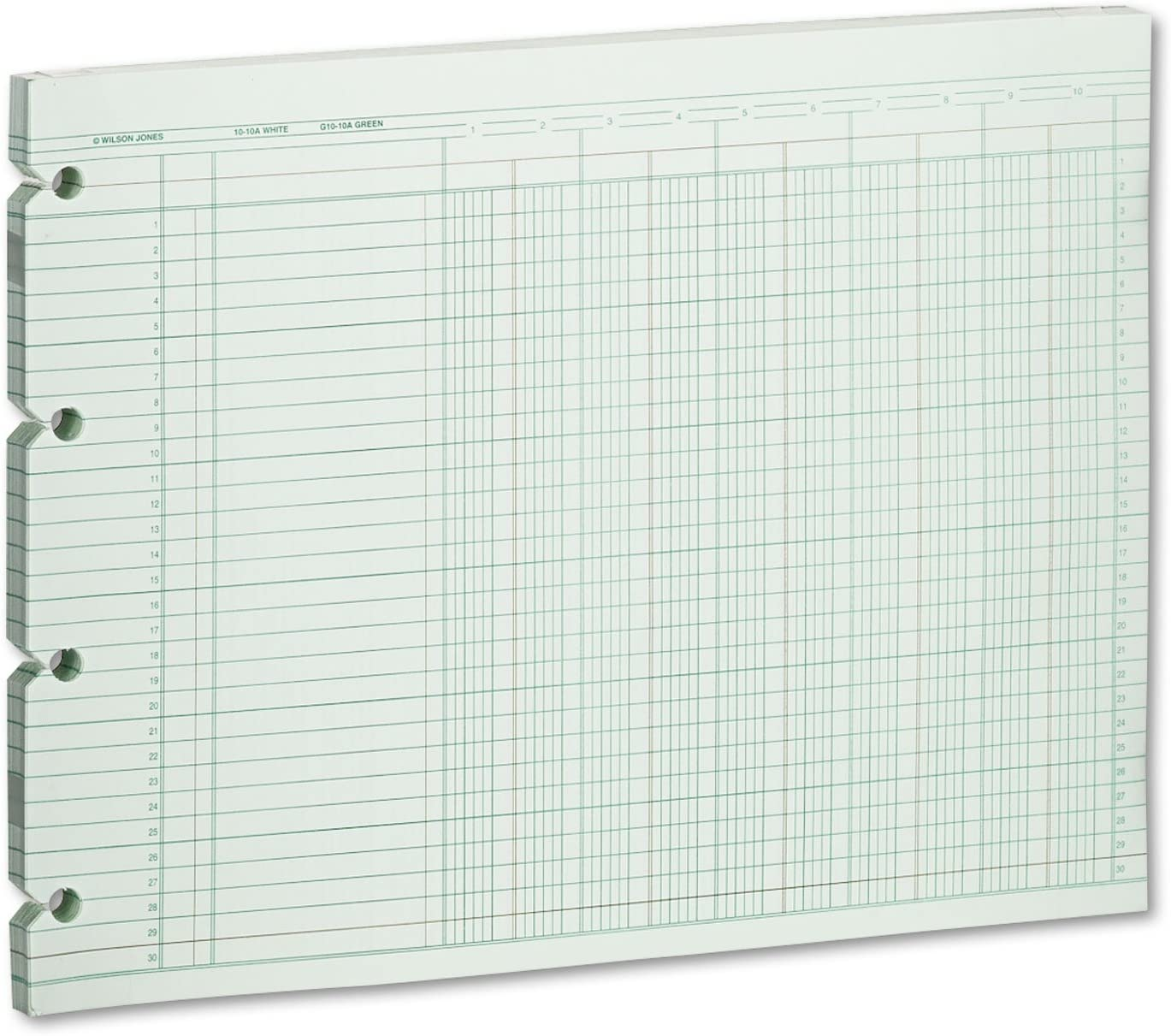 Wilson Jones Accounting 9-1//4 x 11-7//8 100 Loose Sheets//Pack GN2D