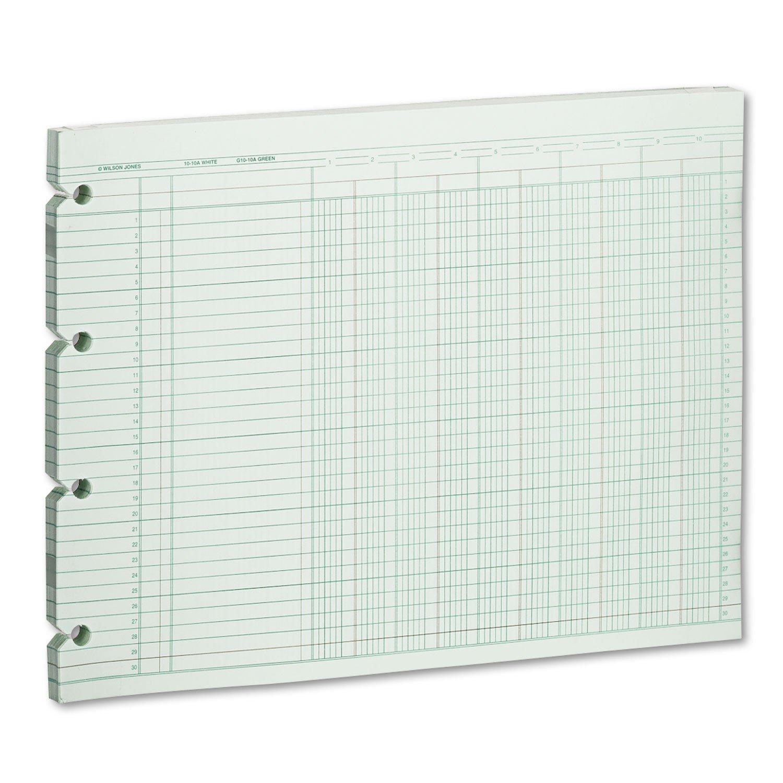 WLJG1010 - Wilson Jones Prepunched Ledger Paper Sheets