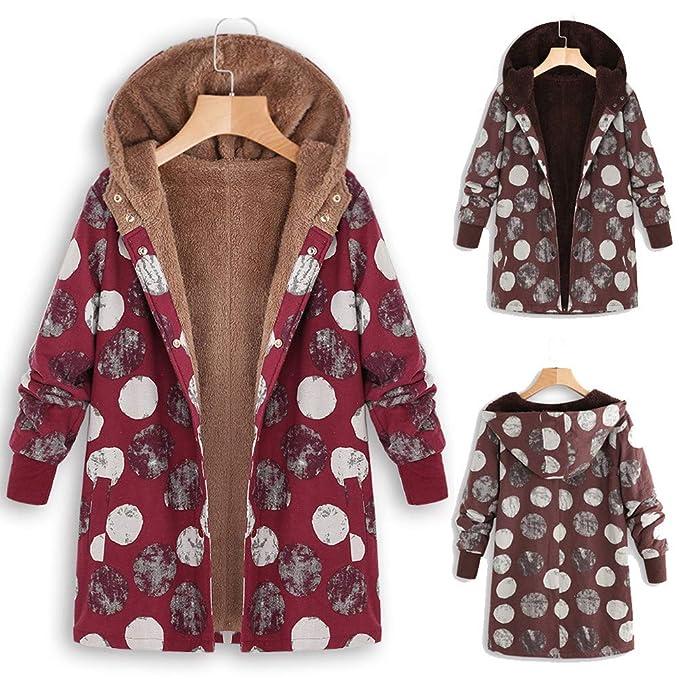 Abrigos Mujer Vintage Acolchados Nieve Frio Extremo Originals Suéter Chaqueta Felpa Talla Grande Invierno Caliente: Amazon.es: Ropa y accesorios
