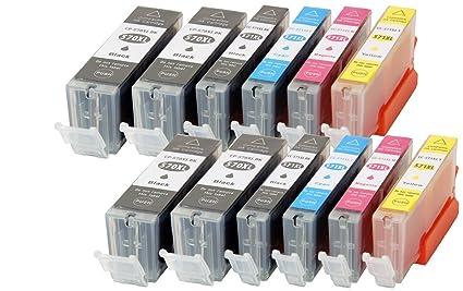 12 XL CC Serie Cartuchos de impresora CANON pgi570 X L ...