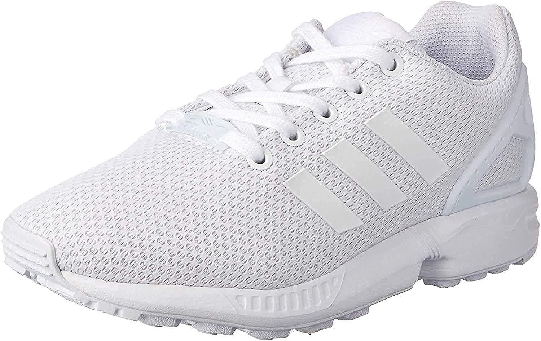 Adidas ZX Flux Basket Mode Garçon , Bleu Blanc (Footwear White/Footwear White/Footwear White 0)