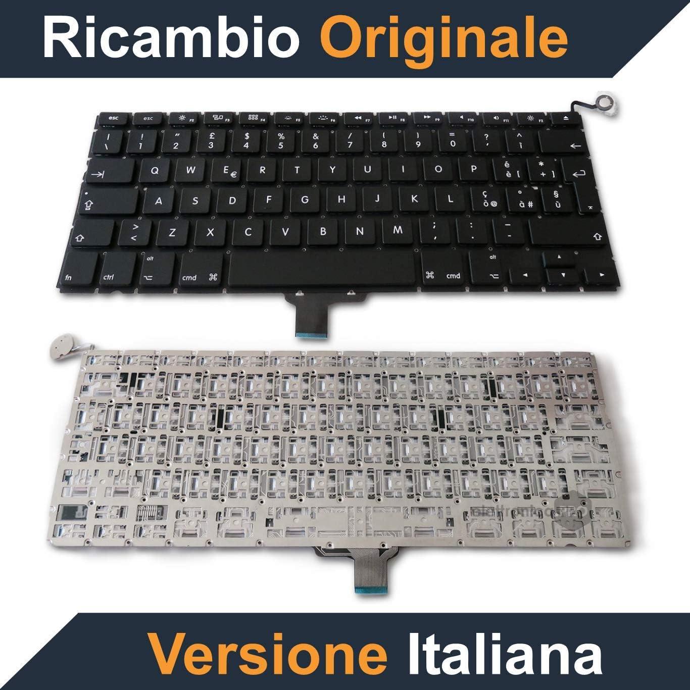 Zemra teclado original para Apple MacBook Pro 13 pulgadas A1278 – Layout italiano – Año 2009, 2010, 2011, 2012, 2013.: Amazon.es: Electrónica