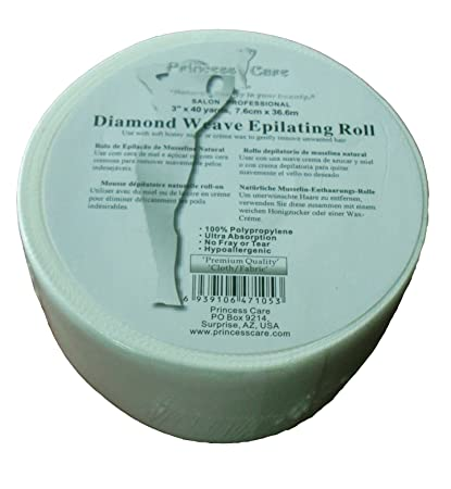 "Princess Care Diamond Weave Epilating Fabric Wax Strips Roll (3.0"" ..."