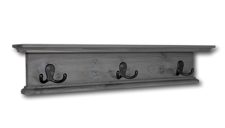 Amazon.com: Moderno Rústico perchero de madera estantería de ...