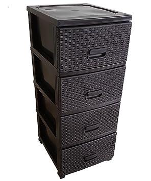 Rollcontainer Metallschrank Schubladenschrank Rollschrank Materialschrank schwar