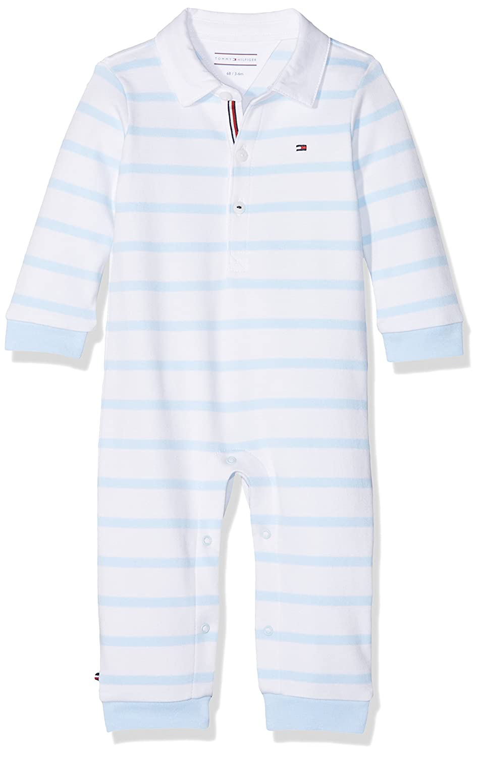 Tommy Hilfiger Baby Peppy Stripe Rugby Coverall L/S Footies KN0KN00799