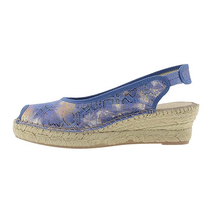 Alpargata Piel Metalizada Talla: 39 Color: Azul: Amazon.es: Zapatos y complementos