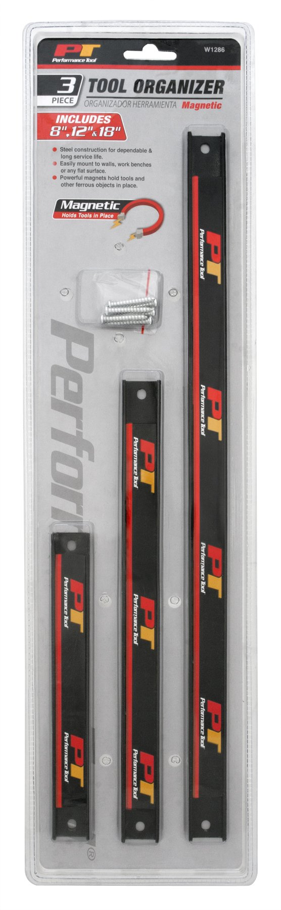 Performance Tool W1286 3 Piece Magnetic Tool Organizer