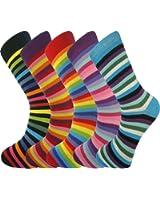 5 paia calzini da uomo da Mysocks®, cotone pettinato, taglia 41 - 45