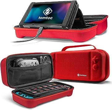 tomtoc Funda para Nintendo Switch, Original Estuche Rígido con 24 Cartuchos de Juego, Case Protector de Viaje para Nintendo Swtich Consola y Accesorios, Rojo: Amazon.es: Videojuegos
