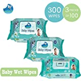 GLIDER Baby Wet Wipes with Lid/Flip-top(100 Wipes) (White) - Pack of 3
