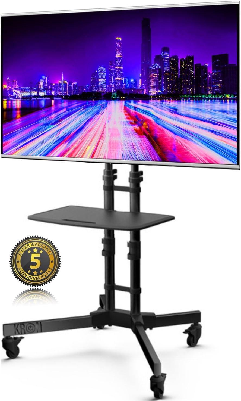 ONKRON Carro móvil para TV de 32 40 47 55 65 pulgadas soporte móvil de suelo VESA 600 x 400 mm Máx. TS122 Negro: Amazon.es: Electrónica