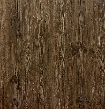 Galerie Serendipity Scrubbable Feature Wallpaper Dark Wood Grain